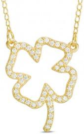1/3 CT. T.W. Diamond Four Leaf Clover Necklace in 10K Gold