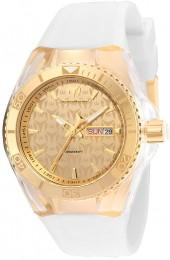 TechnoMarine Monogram Cruise Silicone Strap Watch with Gold-Tone Dial (Model: TM-115061)
