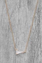 Kendra Scott Racquel Ivory Crystal Necklace