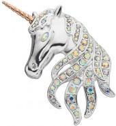 Napier Two Tone Unicorn Pin