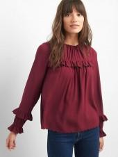 Victorian ruffle long sleeve top