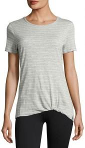 Marc NY Performance Twisted-Knot Striped Tee