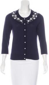 Kate Spade New York Embellished Long Sleeve Cardigan
