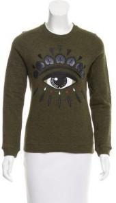 Kenzo Embroidered Mélange Sweatshirt