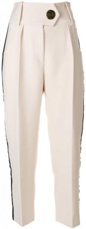 Petar Petrov cropped side panel trousers