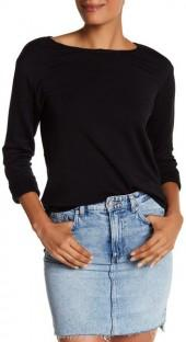Bailey 44 Sombreros Rolled Cuff Cutout Back Sweatshirt