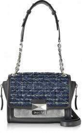 Karl Lagerfeld K/Kuilted Tweed Night Sky Handbag