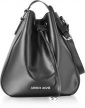 Armani Jeans Black Signature Bucket Bag