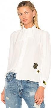 Harvey Faircloth Scout Blouse in White. - size 0 (also in 2,4,6)