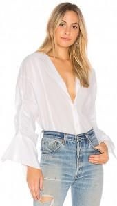 Free People Brown Eyed Girl Top Blouse in White. - size L (also in M,S,XS)