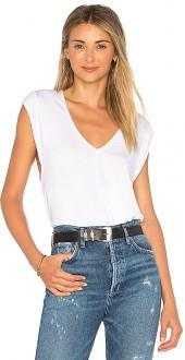 Free People Tees For My Jeans Bodysuit in Ivory. - size L (also in M,S,XS)