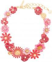 Oscar de la Renta Small Painted Floral necklace