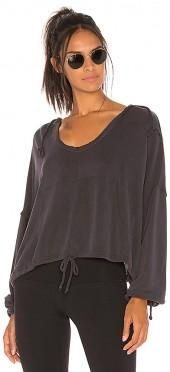 Free People Yella Hoodie in Black. - size L (also in M,S,XS)