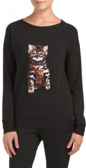 Sequin Animal Sweatshirt