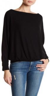 Melrose and Market Off-the-Shoulder Dolman Sleeve Sweatshirt