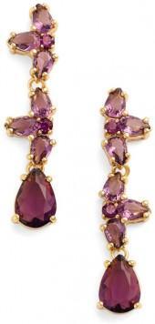 Kate Spade New York Gold Plated Crystal Drop Earrings