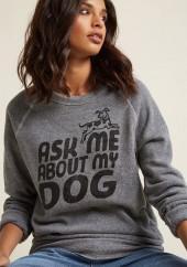 Kin Ship Fur Our Conversation Sweatshirt in M