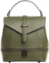 Olive Leather Backpack