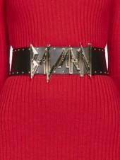 Balmain Leather Logo Belt
