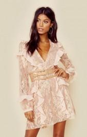 For love and lemons bumble long sleeve ruffle dress