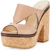 Jimmy Choo Nixie Leather Cork Platform Sandal