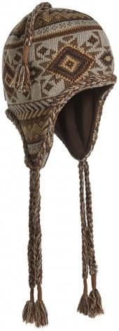 Muk Luks Geometric Tassel Trapper Hat - Microfleece Lined (For Women)