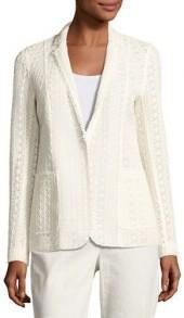 Elie Tahari Rooney Crocheted Blazer Jacket