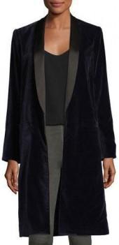 Alice + Olivia Kylie Long Shawl-Collar Jacket
