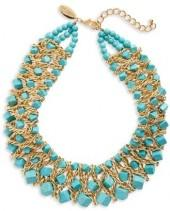 Women's Natasha Chain & Stone Statement Necklace