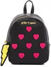 Betsey Johnson Collegiate Heart Medium Backpack