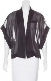 Brunello Cucinelli Shawl Collar Kimono Sleeve Jacket