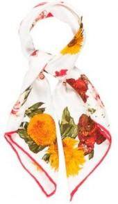 Gucci Floral Printed Silk Scarf