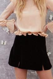 FOR LOVE & LEMONS Beatrix Velvet Skirt