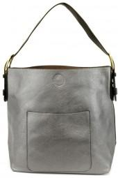 Joy Accessories Pewter Hobo Bag