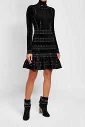 Alexander McQueen Embellished Dress with Ruffled Hem