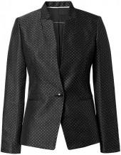 Inverted Collar Dot Blazer