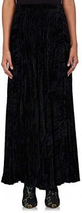 Re-SEE Women's Saint Laurent 1974 Velvet Midi-Skirt