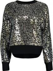 MICHAEL KORS Leopard Paillette Pullover