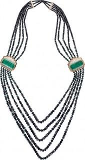 ARUNASHI Enerald Beaded Necklace
