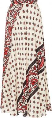 Red Valentino Bandana Print Silk Skirt