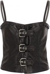 Red Valentino Leather Bustier With Boules