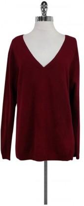In Cashmere Cranberry Red Sweater