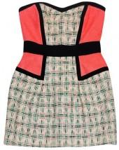 Milly Pink & Black Mix Tweed Dress