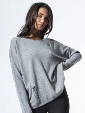 RUN:WAY Distressed Cashmere Crew Sweater