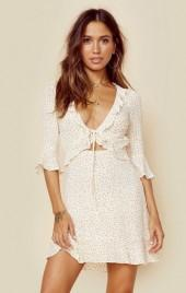 For love and lemons nostalgic tie front dress