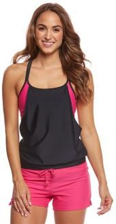 Sporti Active Color Block Double Cross Tankini Top 8162845