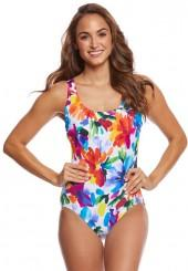 Longitude Sweet Meadow Lace Back One Piece Swimsuit 8165488
