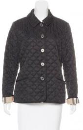 Burberry Brit Nova Check-Lined Quilted Jacket