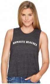 Spiritual Gangster Namaste Beaches Arch Crop Tank Top