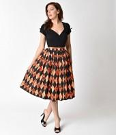Vixen by Micheline Pitt Orange Ben Cooper Trick R Treat Skirt